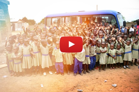 New Bus for Ghana - Watch as Ellen reveals the bus for the school!